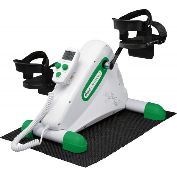 MoVeS -OXYCYCLE 3 ACT&PASIVO-Pedalier  Velocidad y Rcia. regul. 20-65 RPM. Motor 80W. Med.50x46x38cm.Peso 8,5 Kg