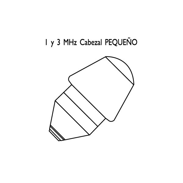 Cabezales reacondicionados para ultrasonidos Megasonic 212P/212K/226 1,6cm²