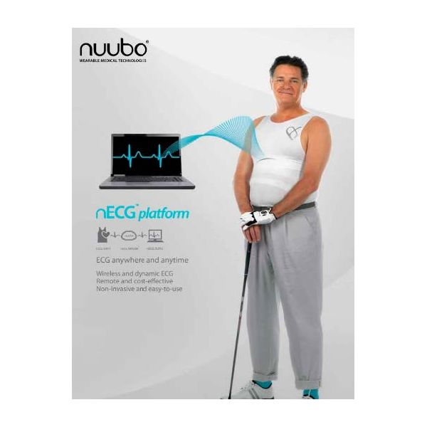 Banda blanca de monitorización ECG L1+CR (5 unid) weaRCare Nuubo