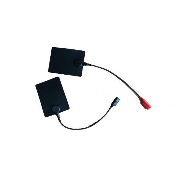 Elèctrodes de silicona amb cable 60x80 mm femella 2-4 mm (2 unid)